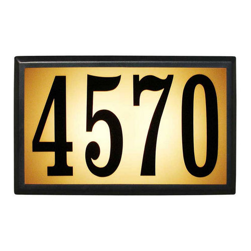 QualArc LT6B-1310 Bayside Estate Lighted Address Plaque, Black Frame
