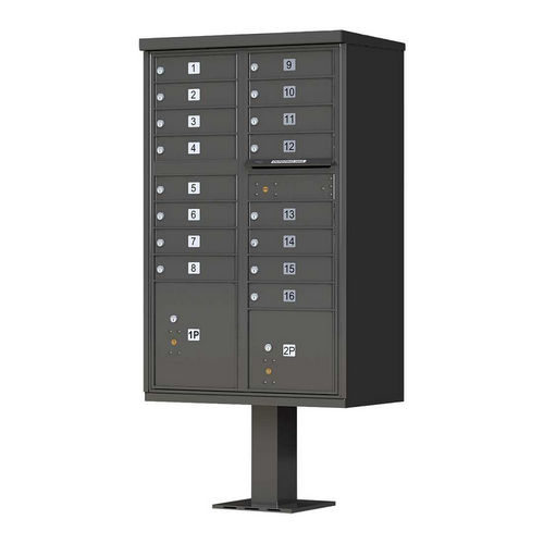 QualArc CBU-16-BZ 1570 16 Door Cluster Box Unit (CBU), Bronze