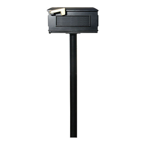 QualArc HPWS2-000-LM Twin Post, No Base with Lewiston Mailboxes (No add Plates) with Scroll Supports
