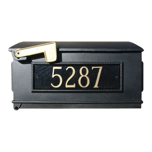 QualArc LM3P-BL Lewiston Mailbox Only with 3 Address Plates, Black