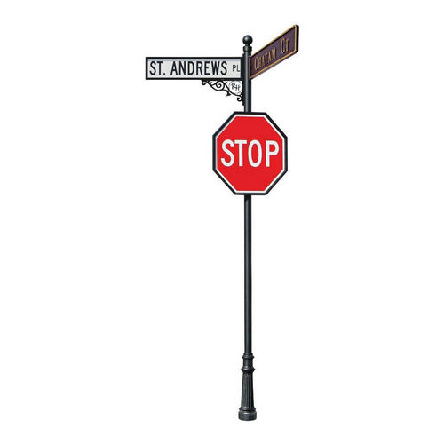 QualArc LSGN Street Sign Pole up To 12' Out Of Ground