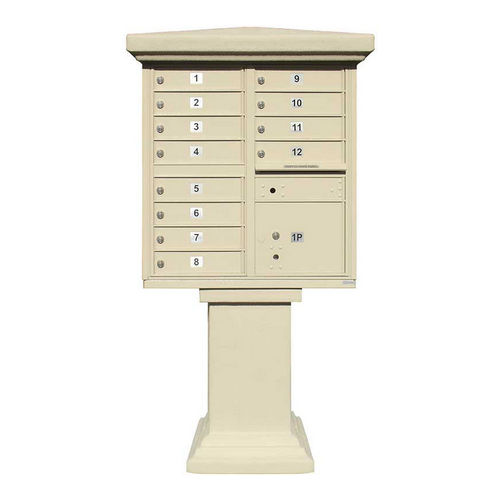 QualArc PVSC-TALL-BZ Parkview Stucco Tall Pedestal Wrap, Bronze, No Mailbox