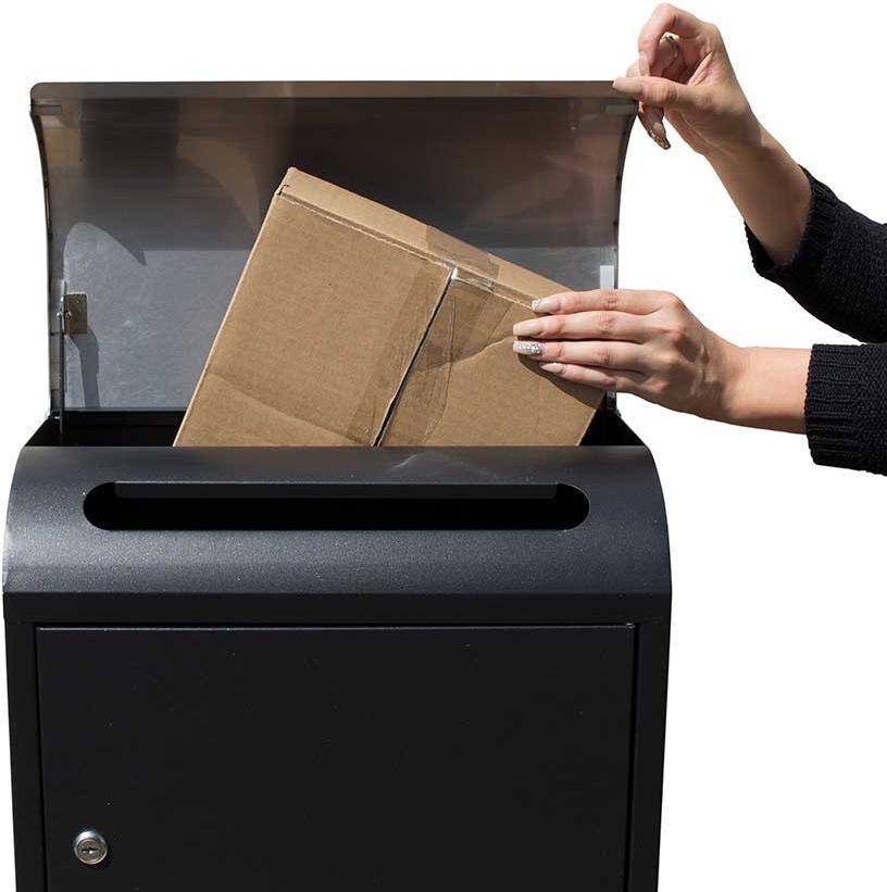 Qualarc Wf Pb018 Selma Locking Mail Amp Parcel Box Black