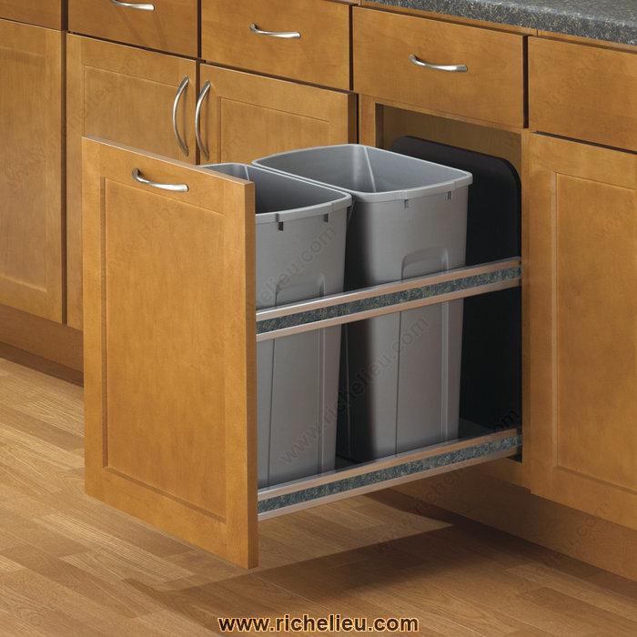 Richelieu USC12227PT Undermount Recycling Center | TheBuildersSupply.com
