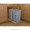 Richelieu RV15KD17CS Double Pull-Out Waste Containers Metallic Silver