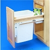Richelieu 4WCTM12DM1 Single Top-Mounting Wood Pull-Out Waste Container