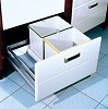 Richelieu 2350100 Wastebin Drawer - 2 x 16L