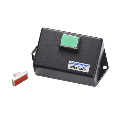 Securitron PB3ER Push Button, Remote Momentary, Surface Mount Green/Red Lens