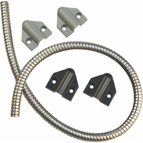 Securitron TSB-C TSB Door Cord with Caps, Gray/Black