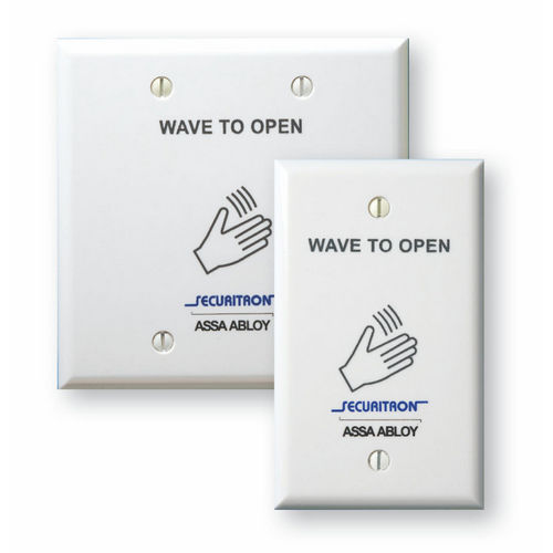 Securitron WSS-W1 Wave Sense Switch- with white, single gang faceplate