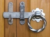 Snug Cottage 4149-062 Bare Metal Ring Latch with Galvanized Bar