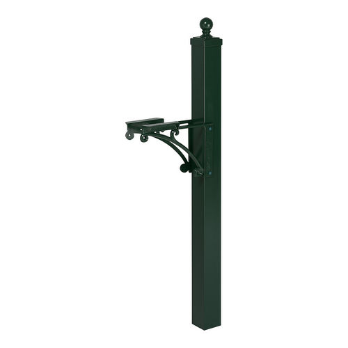 Whitehall 16062 Deluxe Post & Brackets w/Ball Finial, Green