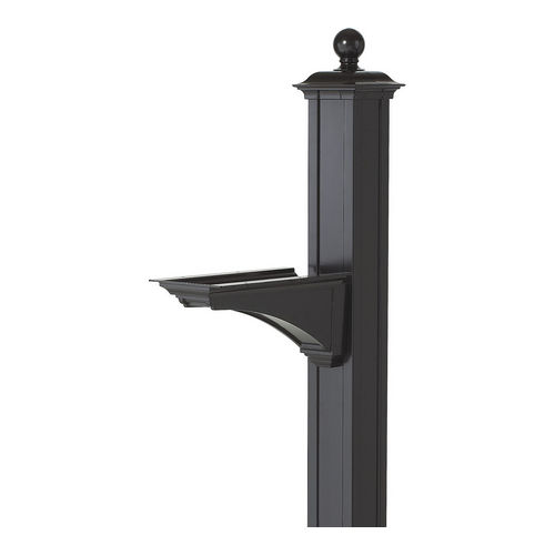 Whitehall 16232 Balmoral Post & Bracket w/ Ball Finial, Black