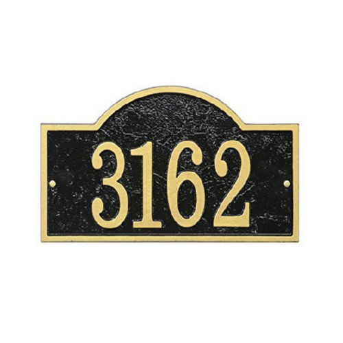 Whitehall FEA1BG Fast & Easy Arch House Numbers Plaque