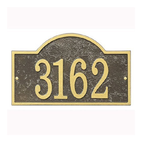 Whitehall FEA1OG Fast & Easy Arch House Numbers Plaque