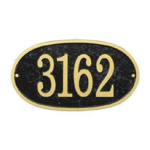Whitehall FEO1BG Fast & Easy Oval House Numbers Plaque