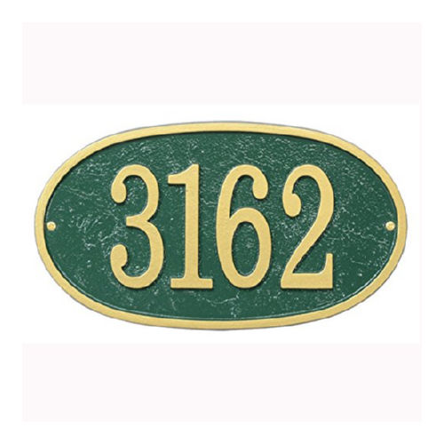 Whitehall FEO1GG Fast & Easy Oval House Numbers Plaque