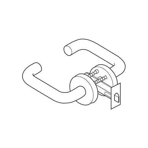 Hafele 911.70.099 Lever Handle, with Tubular Privacy Latch