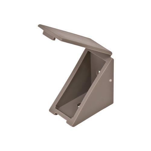 Hafele 260.24.541 Angle Bracket, with Attached Cover Cap, 19 x 34 x 34 mm