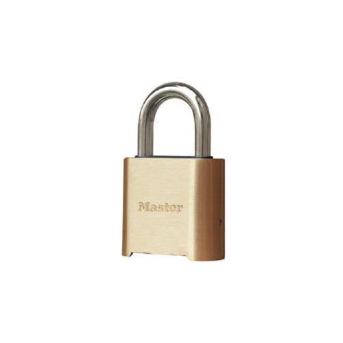 Master Lock 975DLHCOM Carded Resettable Brass Padlock 2in