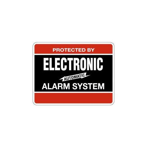 Maxwell Alarm Screen DY103 Electronic Alarm Decal 4inx3in Black/red