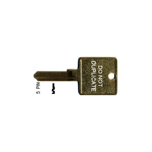 Ilco 1001EH-HCBL-ISO +corbin Key 5-pin 60-5-10 Co87 Motel