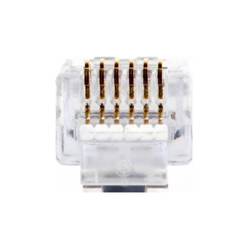 Platinum Tools 100026C Ez-rj12/11 Connector 50pc Clamshell