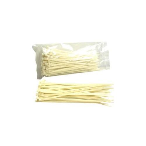 Connectors Plus 53-308 CLEAR 8in Cable Ties 100pcs/bag