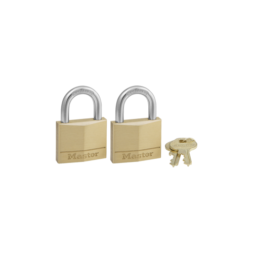 Master Lock 140T Carded Padlock Solid Brass 1-9/16in Kd