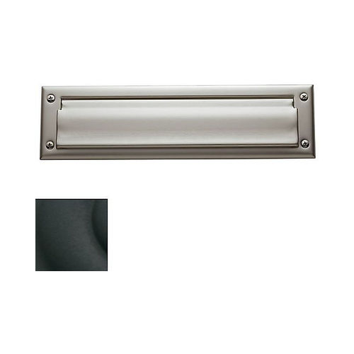 Baldwin 0012190 Letter Box Plate Satin Black Finish