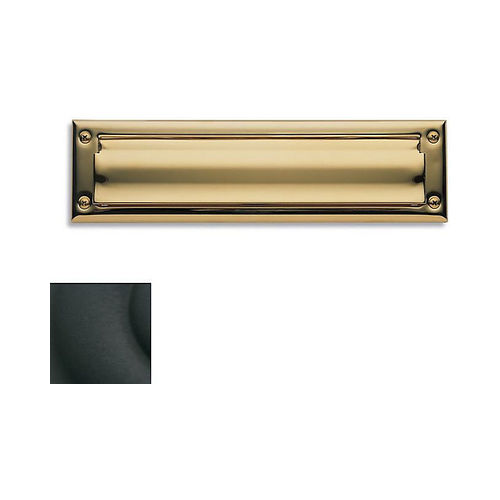 Baldwin 0014190 Letter Box Plate Satin Black Finish