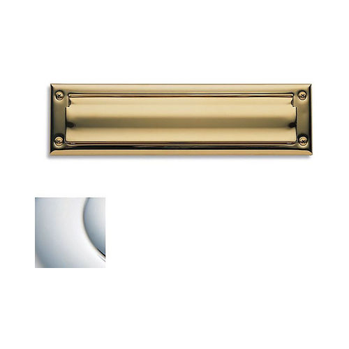 Baldwin 0014260 Letter Box Plate Bright Chrome Finish