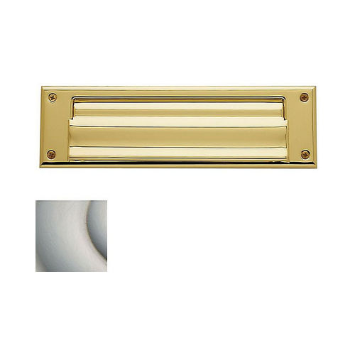 Baldwin 0017056 Letter Box Plate Lifetime Satin Nickel Finish