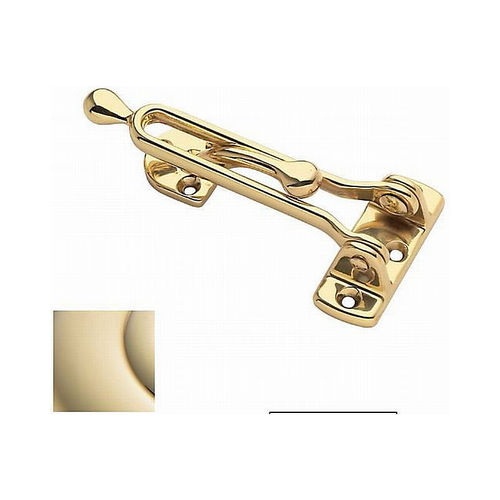 Baldwin 0250003 Door Guard Lifetime Brass Finish