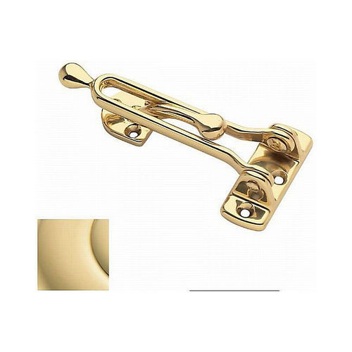 Baldwin 0250031 Door Guard Unlacquered Brass Finish