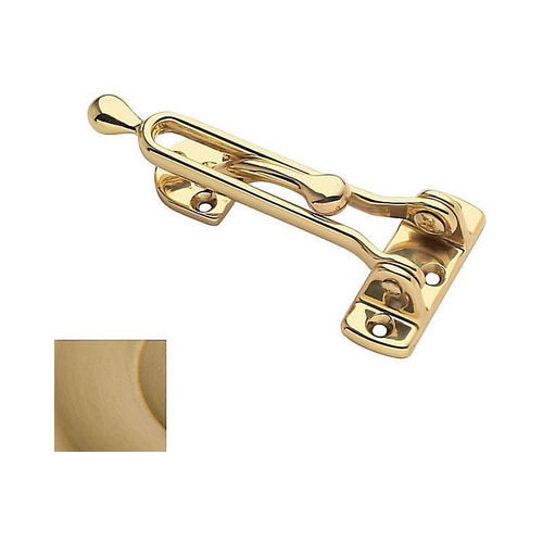 Baldwin 0250033 Door Guard Vintage Brass Finish