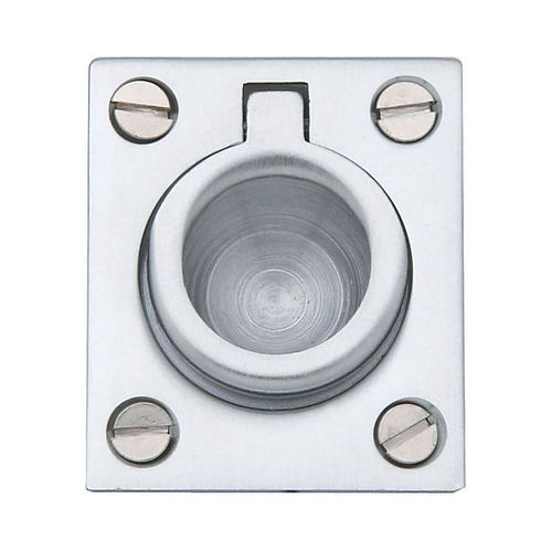 Baldwin 0392264 Flush Ring Pull Satin Chrome Finish
