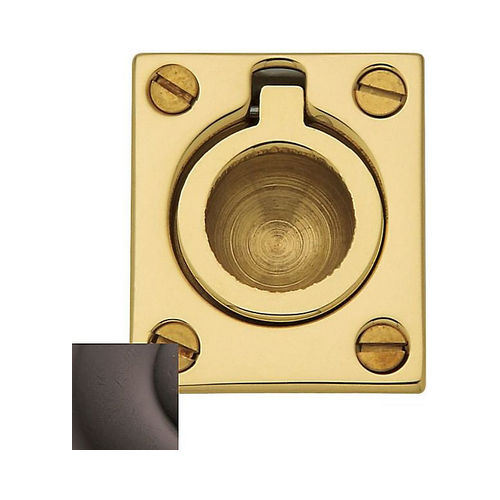 Baldwin 0392412 Flush Ring Pull Distressed Venetian Bronze Finish