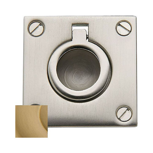 Baldwin 0393033 Flush Ring Pull Vintage Brass Finish