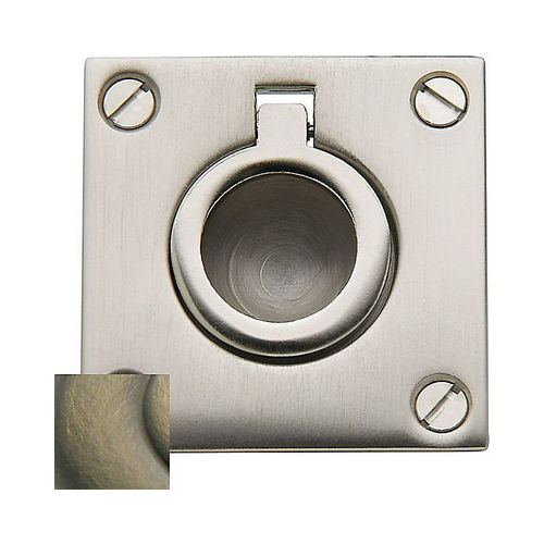Baldwin 0393050 Flush Ring Pull Satin Brass with Satin Black Finish