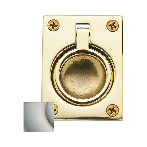 Baldwin 0394150 Flush Ring Pull Satin Nickel Finish