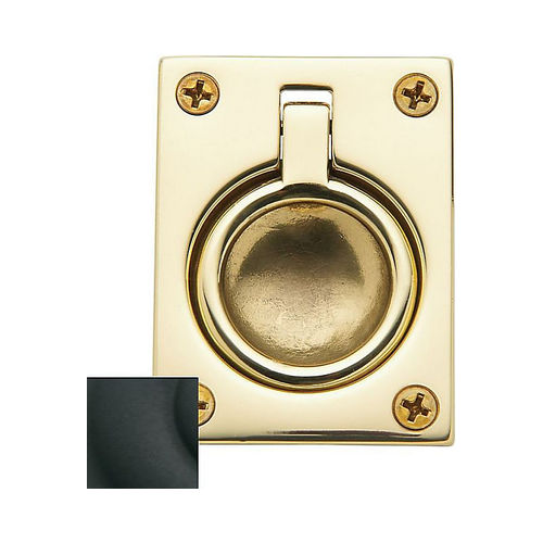 Baldwin 0394190 Flush Ring Pull Satin Black Finish