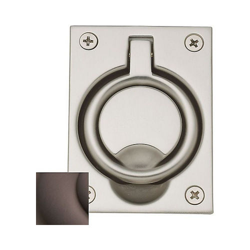 Baldwin 0395112 Flush Ring Pull Venetian Bronze Finish