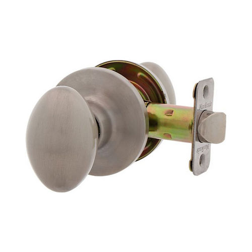 MaxGrade 100BAK15 Baker Egg Style Passage Lock Satin Nickel Finish with Adjustable Latch and Radius Strike