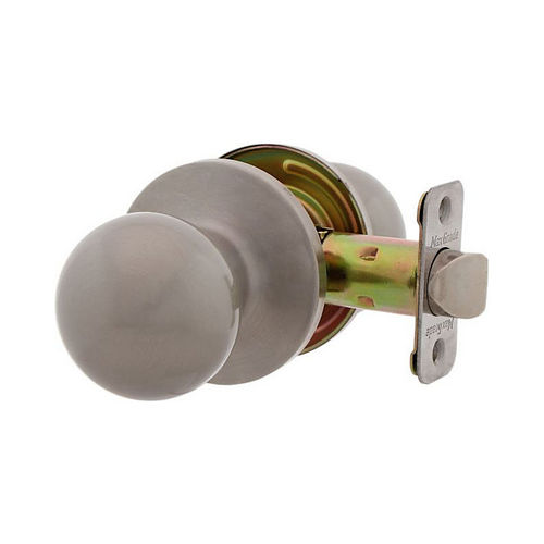 MaxGrade 100OXF15 Oxford Ball Style Passage Lock Satin Nickel Finish with Adjustable Latch and Radius Strike