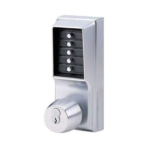 Simplex 1041S26D Mechanical Pushbutton Knob Lock Combination Passage with Key Override, 2-3/4