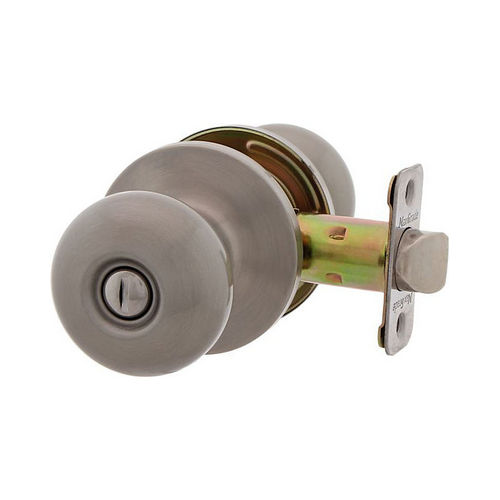 MaxGrade 200WAT15 Watson Privacy Turn Button Lock Satin Nickel Finish with Adjustable Latch and Radius Strike