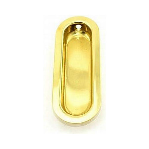 Ives Residential 223B3 Solid Brass Oval Flush Pull Bright Brass Finish