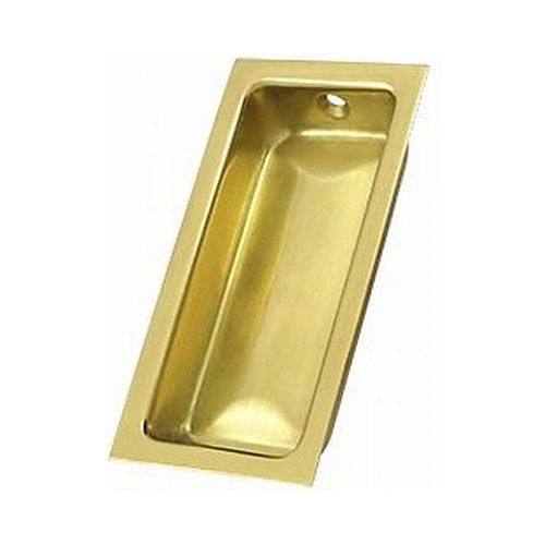 Ives Residential 227B3 Solid Brass Large Rectangular Flush Pull Bright Brass Finish