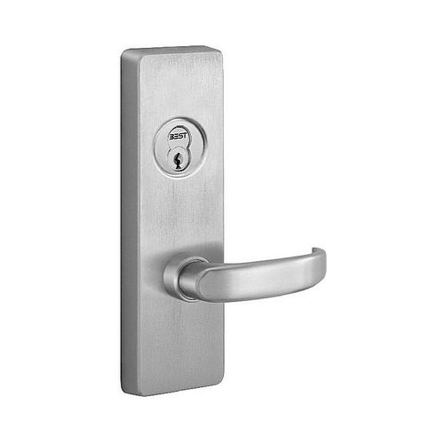 PHI 4908D630RHR Right Hand Reverse Key Control Lever Exit Trim with D Lever Satin Stainless Steel Finish